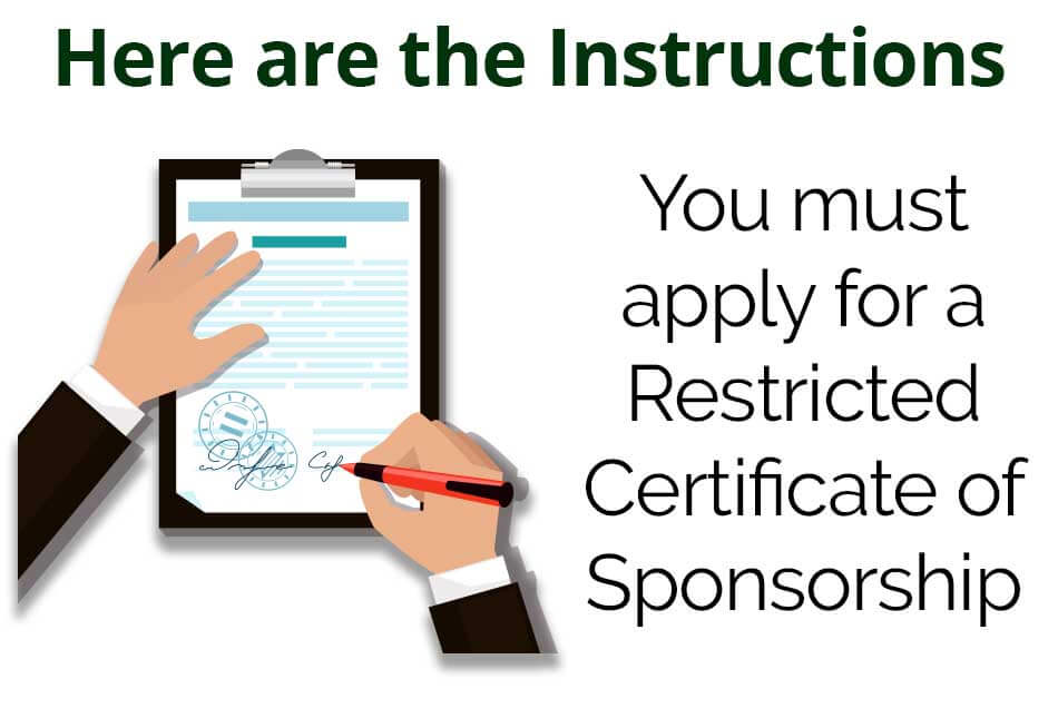 How to apply for a restricted certificate-INSTRUCTIONS