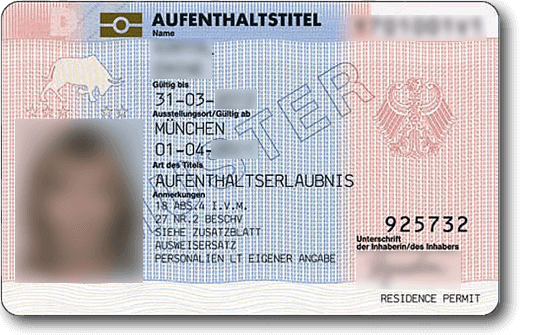 German Permanent Residence card